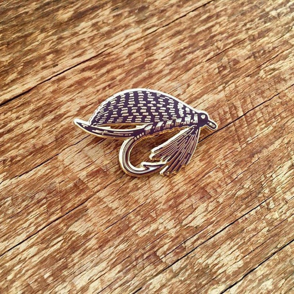 Noteworthy Fishing Fly Enamel Pin