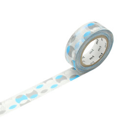 Overlapped Dot Blue Washi Tape