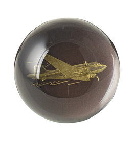 Crane Engraved Airplane Paperweight
