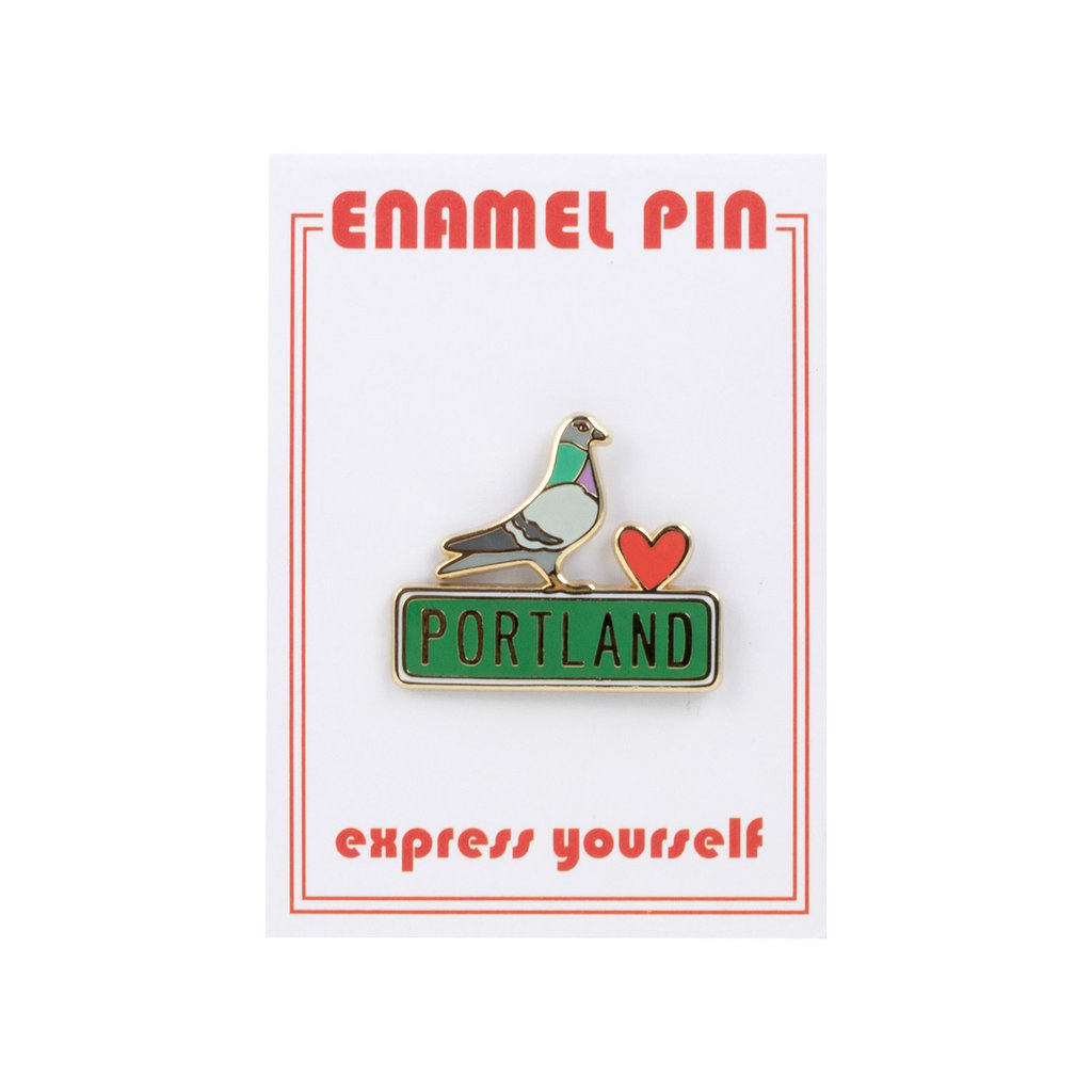 the found Portland Pigeon Pin