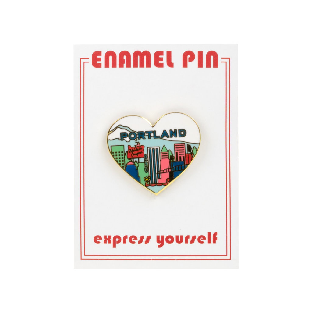 the found Portland Heart Pin