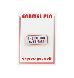 the found The Future is Female Pin