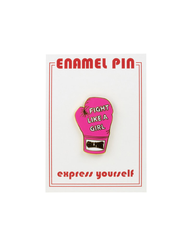 the found Fight Like a Girl Pin