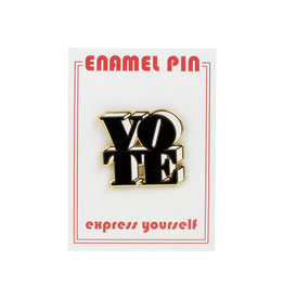 the found Vote Black & White Pin