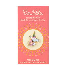 Night Owl Paper Goods Unicorn Pin