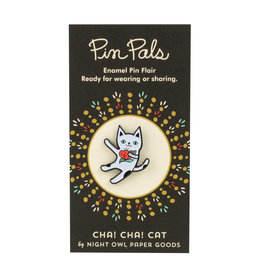 Night Owl Paper Goods Cha! Cha! Cat Pin