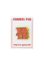 the found Vote Pink & Yellow Pin
