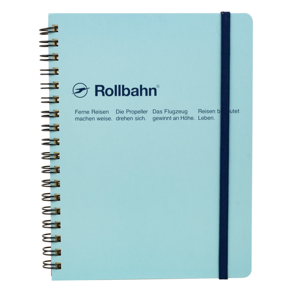 Rollbahn Rollbahn Spiral Large Notebook Sky Blue