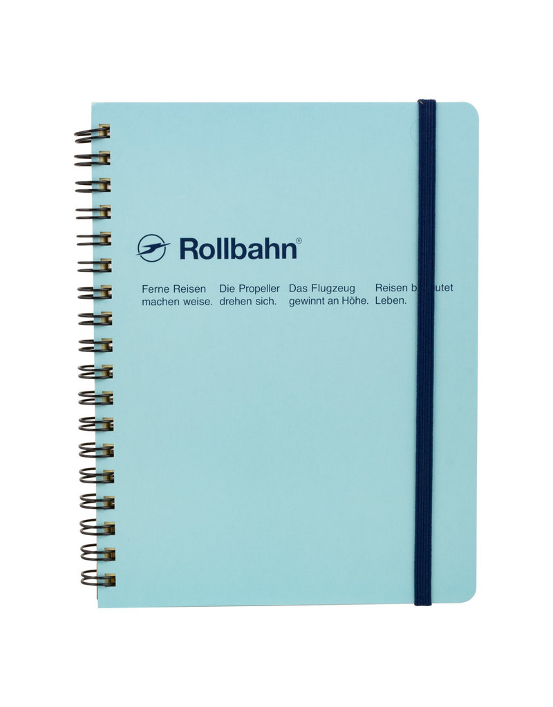 Rollbahn Rollbahn Spiral Large Notebook - Sky Blue
