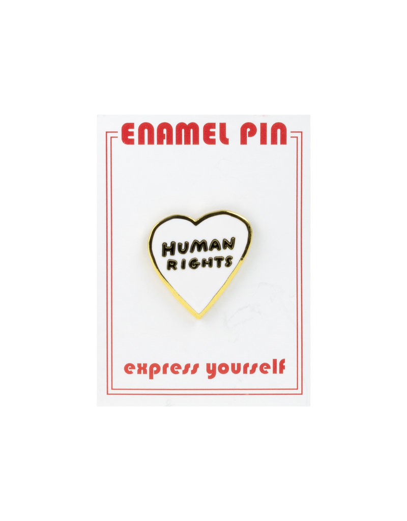 the found Human Rights Heart Pin