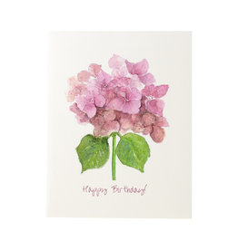 Grace Watercolors Hydrangea Happy Birthday