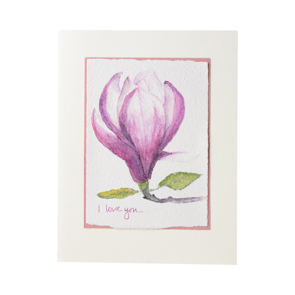 Grace Watercolors Magnolia I love you