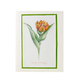 Grace Watercolors Tulip Happy Birthday