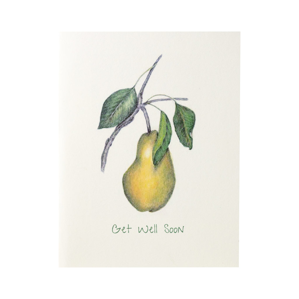 Grace Watercolors Pear Get Well