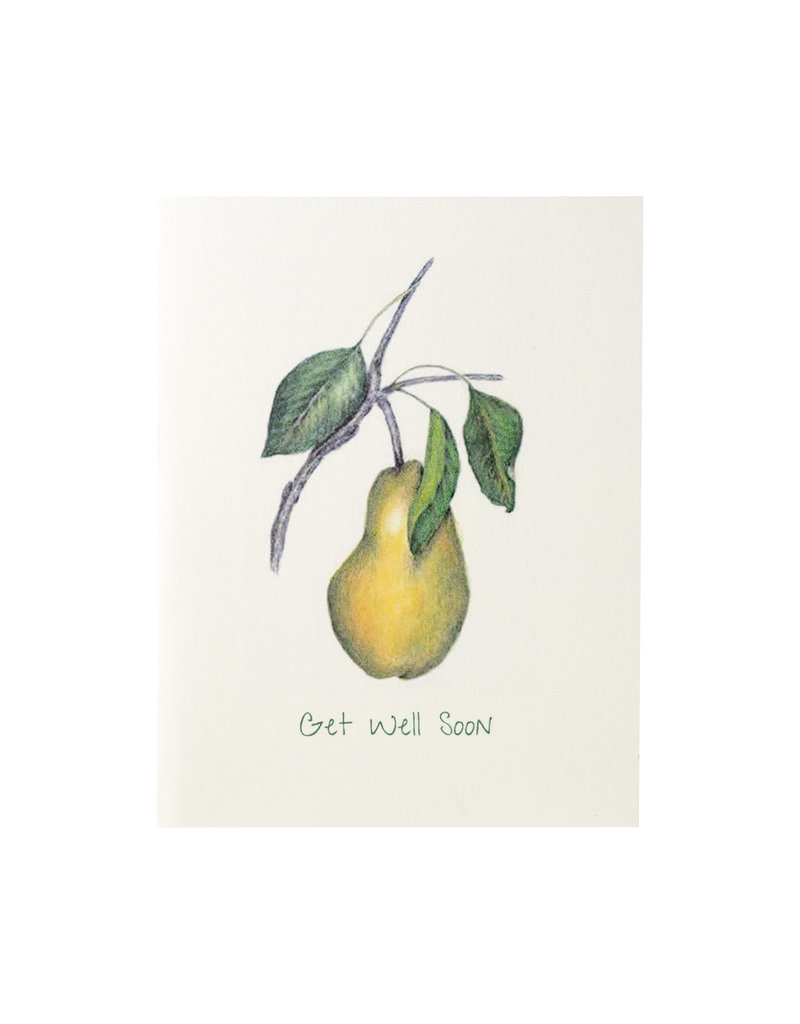 Grace Watercolors Pear Get Well
