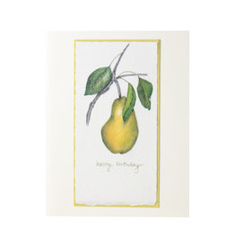 Grace Watercolors Yellow Pear Happy Birthday