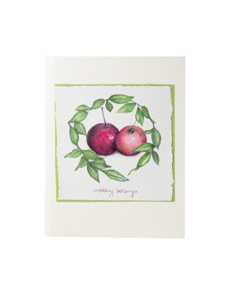 Grace Watercolors Apple Wreath Wedding Wishes