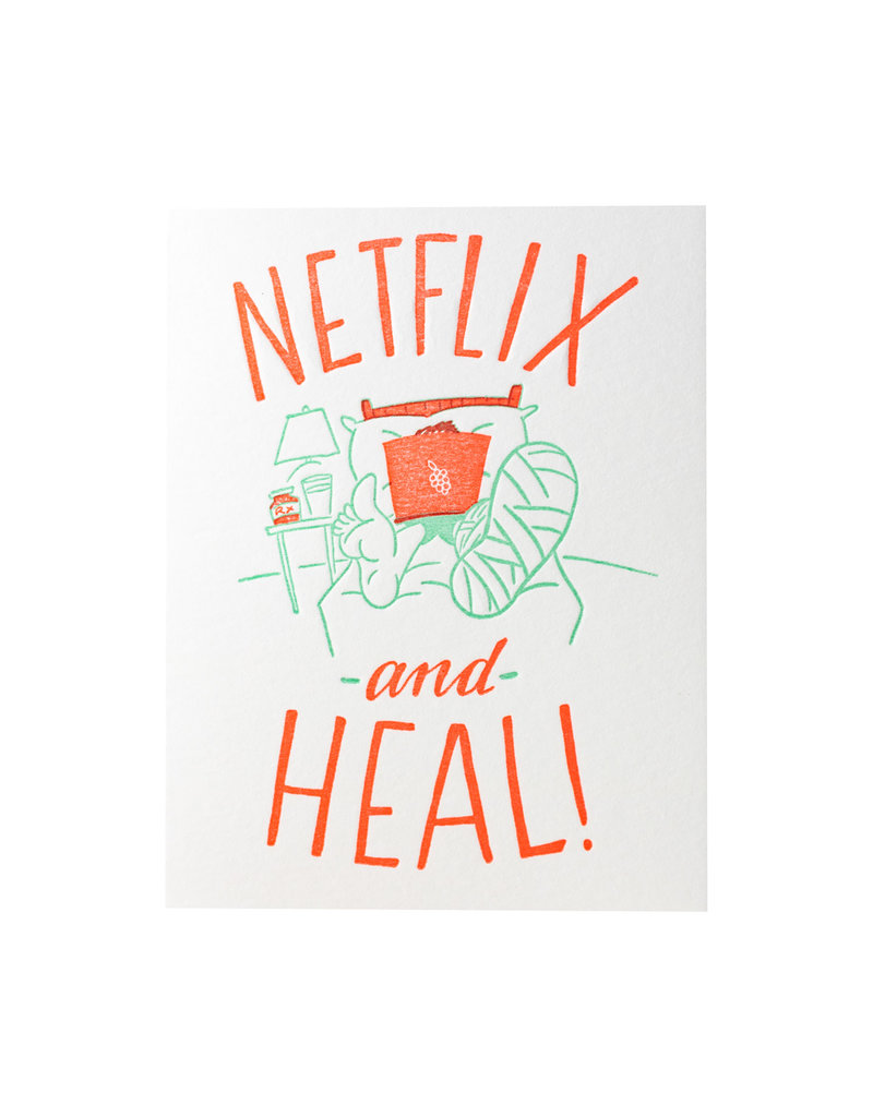Ladyfingers Letterpress Netflix and Heal