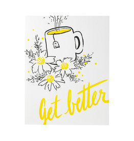 Smudge Ink Tea Get Well Card