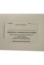 Hat + Wig + Glove medical marijuana card letterpress card