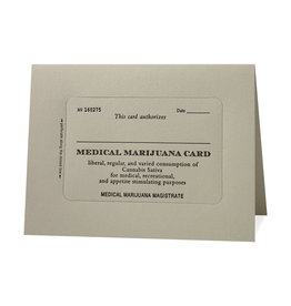 Hat + Wig + Glove Medicinal Marijuana Card letterpress card