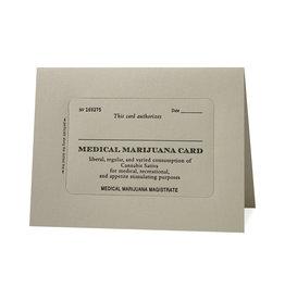 Hat + Wig + Glove Medicinal Marijuana Card