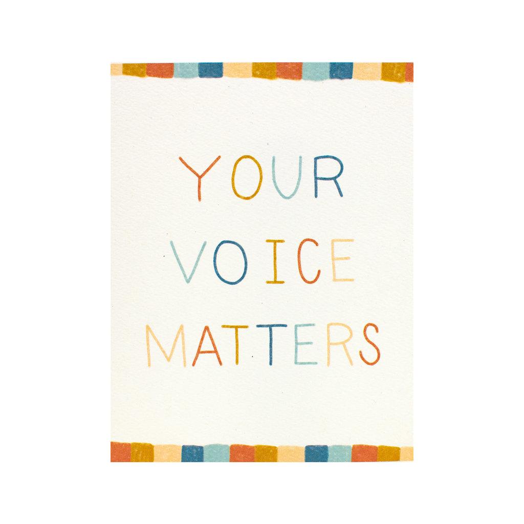 Maija Rebecca Hand Drawn Your Voice Matters