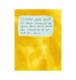 Maija Rebecca Hand Drawn Grief No Words Greeting Card