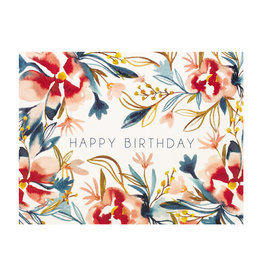 Maija Rebecca Hand Drawn Watercolor Floral Happy birthday