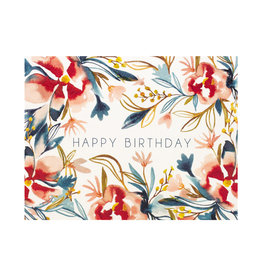 Maija Rebecca Hand Drawn Watercolor Floral Happy birthday