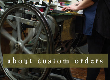 about custom orders