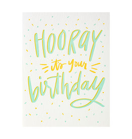 Dahlia Press Hooray It's Your Birthday - Letterpress Card