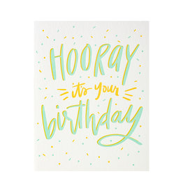 Dahlia Press Hooray It's Your Birthday - Letterpress Card