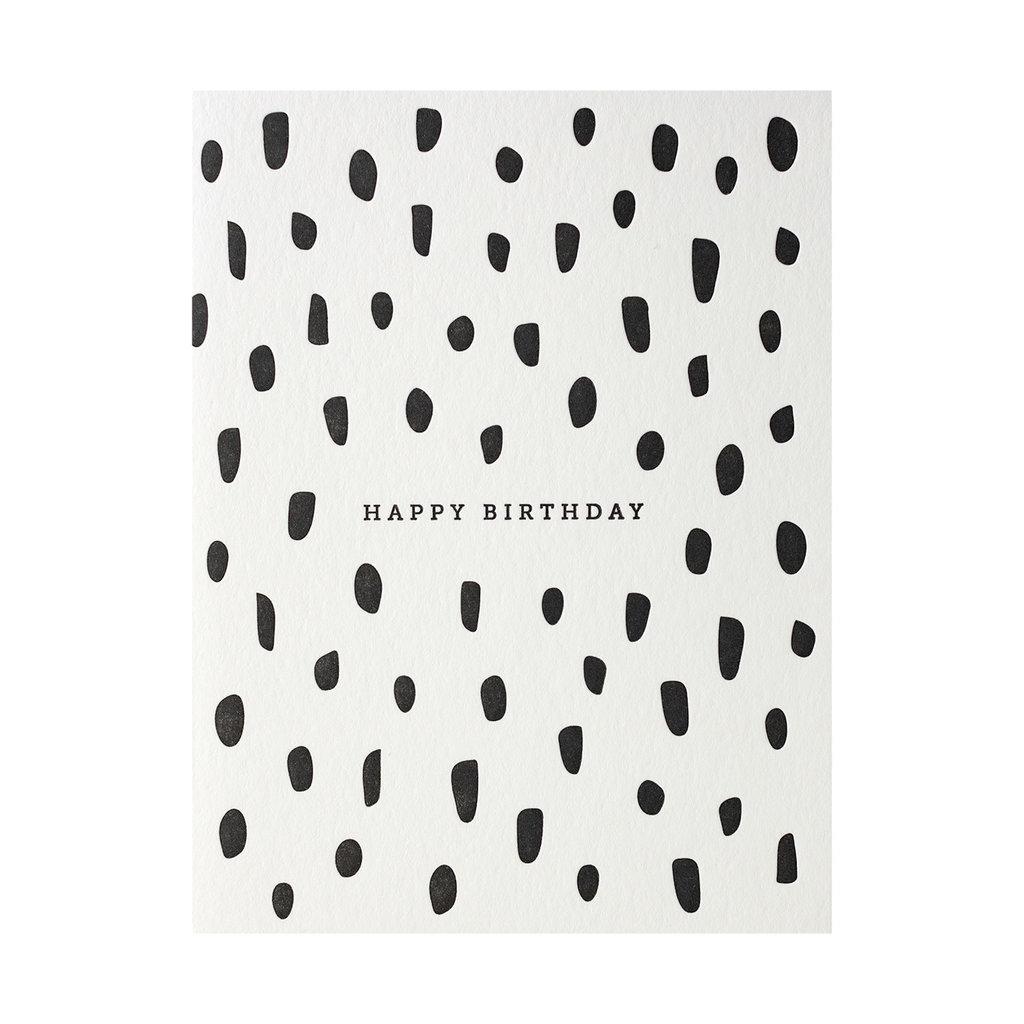 Dahlia Press Birthday Brush - Letterpress Card