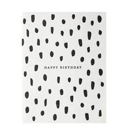 Dahlia Press Birthday Brush - Letterpress Card