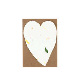 Oblation Papers & Press Handmade Paper Small Heart Floral