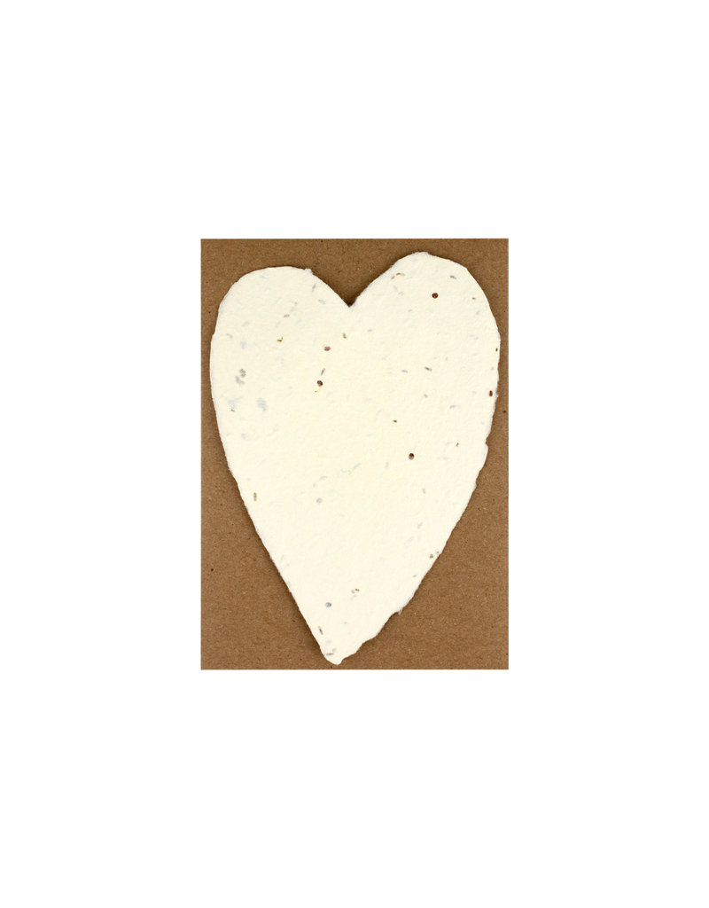 Oblation Papers & Press Handmade Paper Small Heart Seed