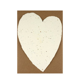 Oblation Papers & Press Handmade Paper Large Heart Seed
