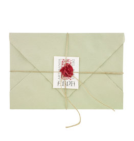 "Arpa Handmade Paper Set Sage 4.5x6.75"""
