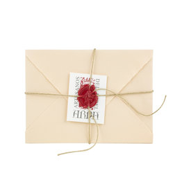 "Arpa Handmade Paper Set Salmon 3.5x5.25"""