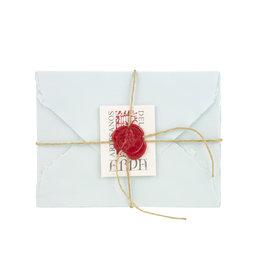 "Arpa Handmade Paper Set Pale Blue 3.5x5.25"""
