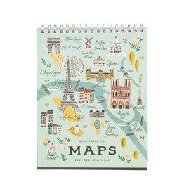 Rifle Paper 2021 City Maps Desk Calendar