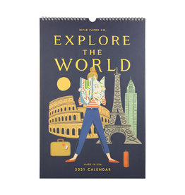Rifle Paper 2021 Explore the World Wall Calendar