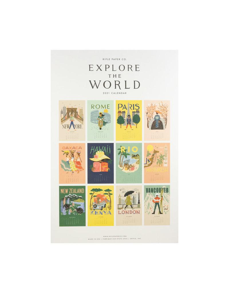 Rifle Paper 2021 Explore the World Wall Calendar