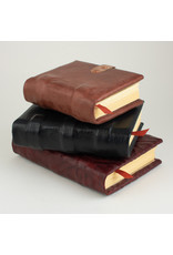 small handmade brown leather book