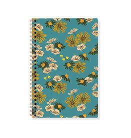 Fringe Blue & Yellow Floral Spiral Notebook
