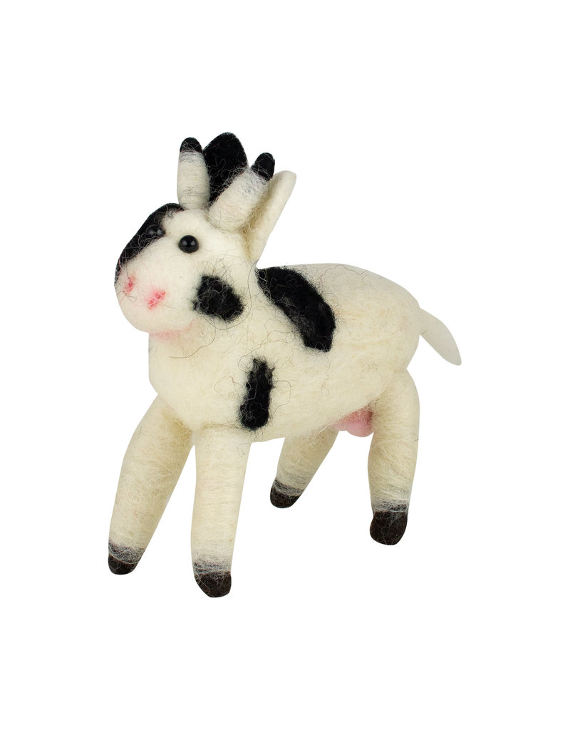 Wool Cow Ornament