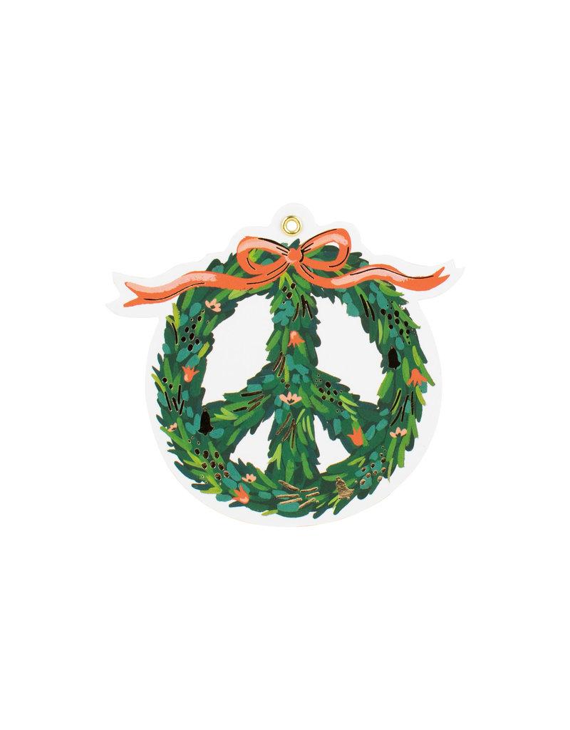 Peace Wreath Tags Set of 8