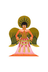 Rifle Paper Happy Holidays Angel cards box of 8