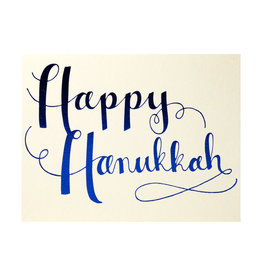 Happy Hanukkah Blue Box of 8